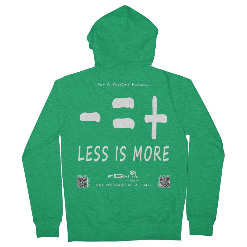 695A - Less Is More Men's Zip-Up Hoody by FGN Inc. Online Shop