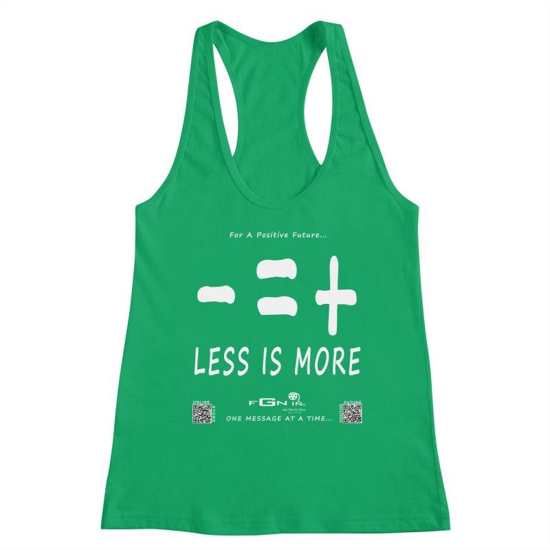 695A - Less Is More Women's Tank by FGN Inc. Online Shop