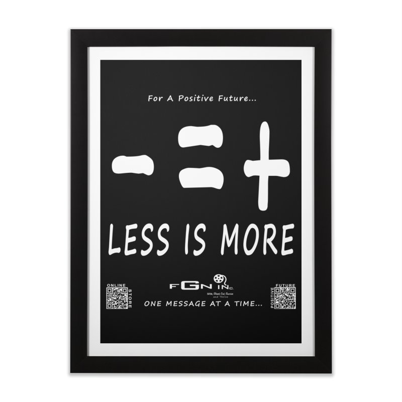 695A - Less Is More Home Framed Fine Art Print by FGN Inc. Online Shop
