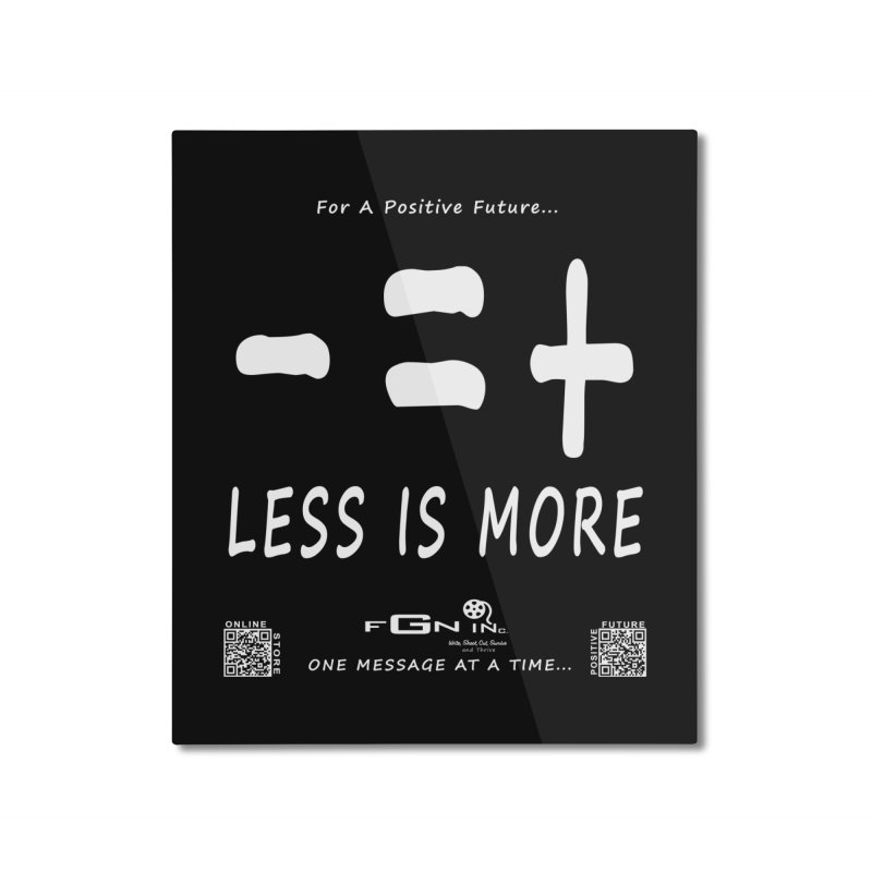 695A - Less Is More Home Mounted Aluminum Print by FGN Inc. Online Shop