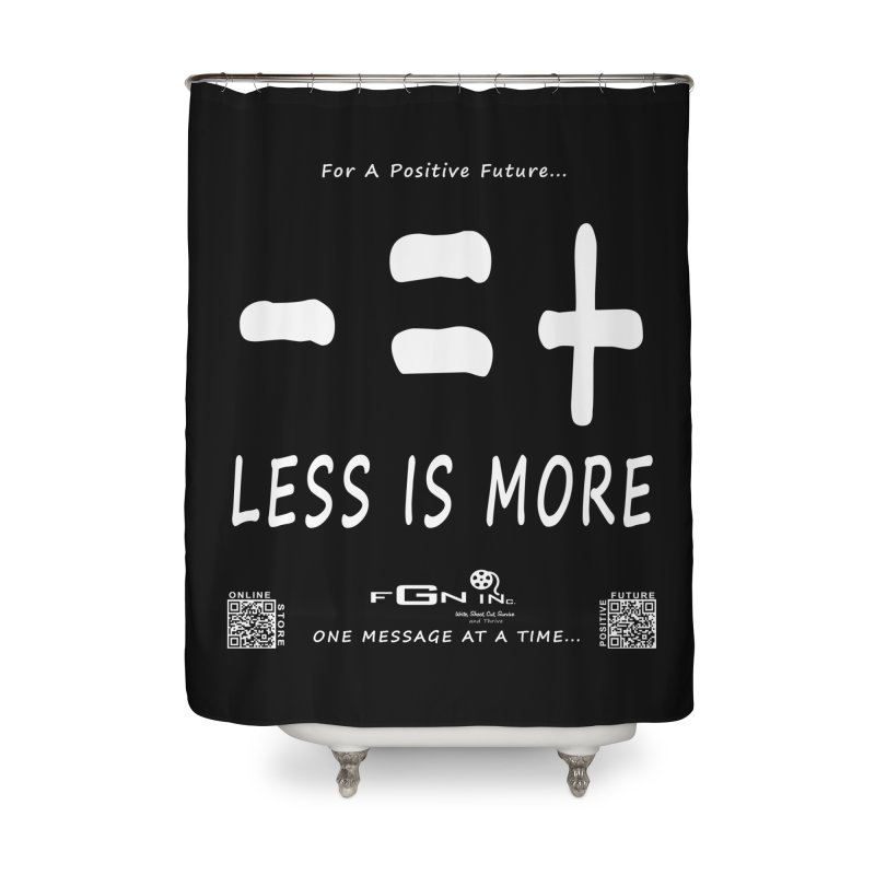 695A - Less Is More Home Shower Curtain by FGN Inc. Online Shop