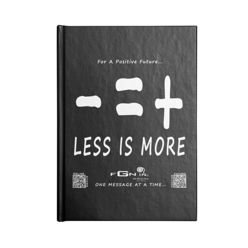 695A - Less Is More Accessories Notebook by FGN Inc. Online Shop