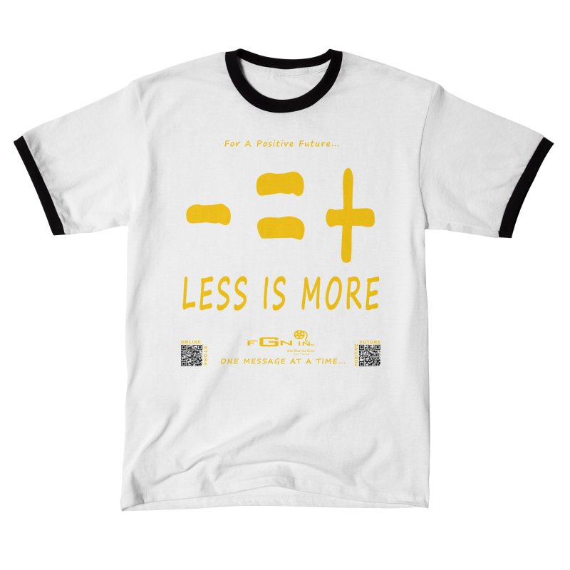 695B - Less Is More Men's T-Shirt by FGN Inc. Online Shop