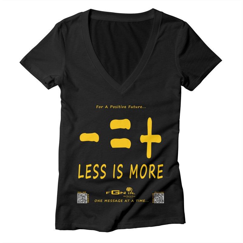 695B - Less Is More Women's V-Neck by FGN Inc. Online Shop