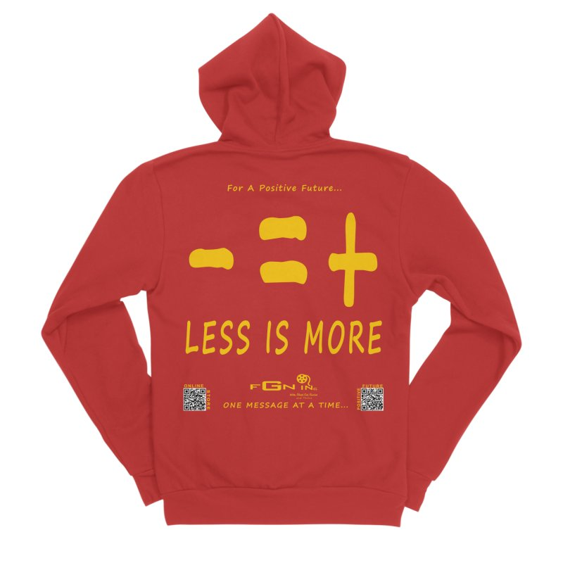695B - Less Is More Men's Zip-Up Hoody by FGN Inc. Online Shop