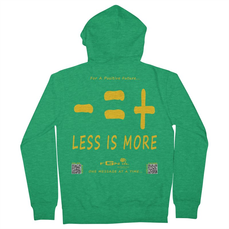 695B - Less Is More Women's Zip-Up Hoody by FGN Inc. Online Shop