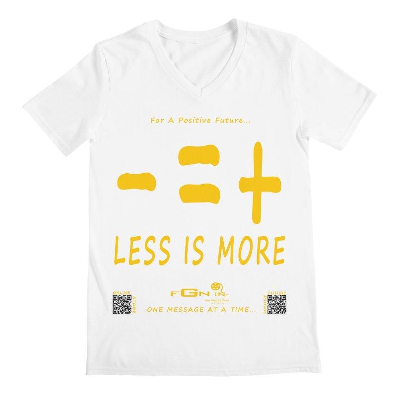695B - Less Is More Men's V-Neck by FGN Inc. Online Shop