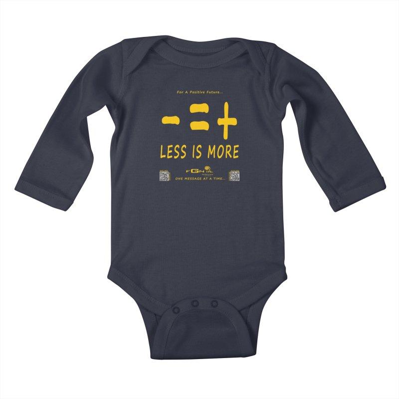 695B - Less Is More Kids Baby Longsleeve Bodysuit by FGN Inc. Online Shop
