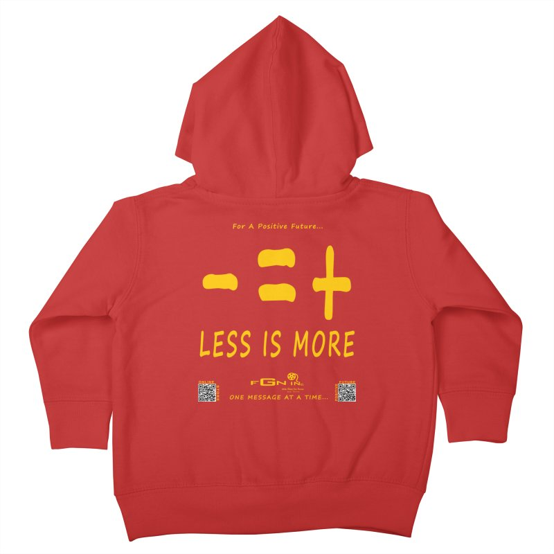 695B - Less Is More Kids Toddler Zip-Up Hoody by FGN Inc. Online Shop