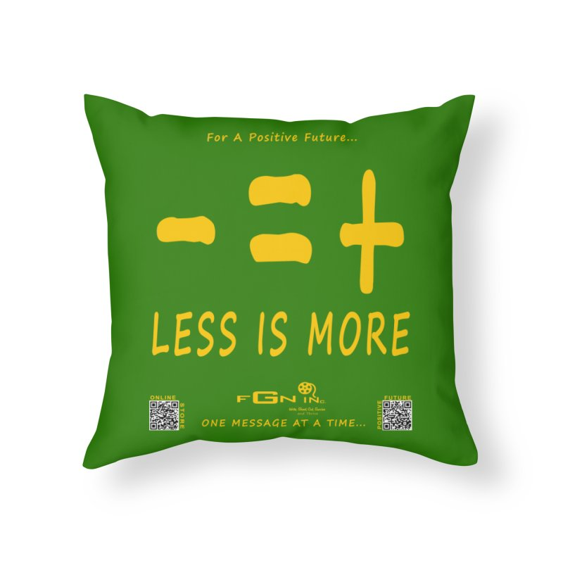 695B - Less Is More Home Throw Pillow by FGN Inc. Online Shop