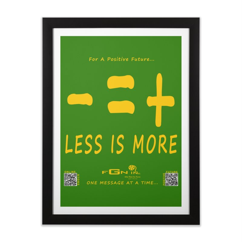 695B - Less Is More Home Framed Fine Art Print by FGN Inc. Online Shop
