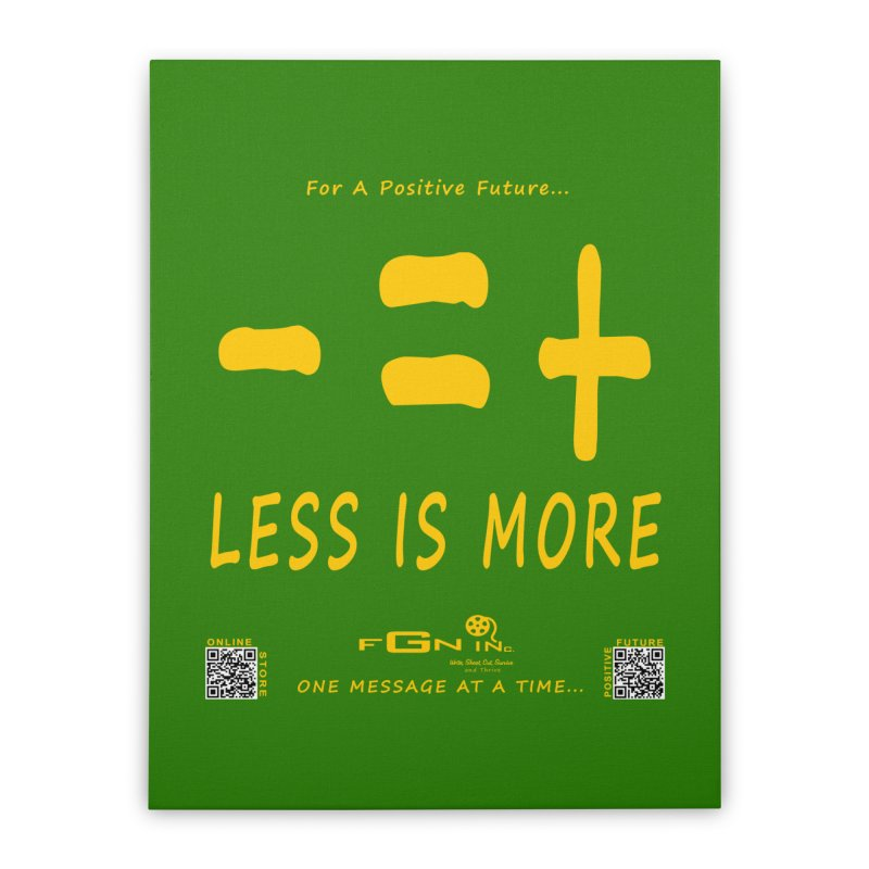 695B - Less Is More Home Stretched Canvas by FGN Inc. Online Shop