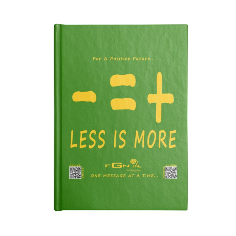 695B - Less Is More Accessories Notebook by FGN Inc. Online Shop