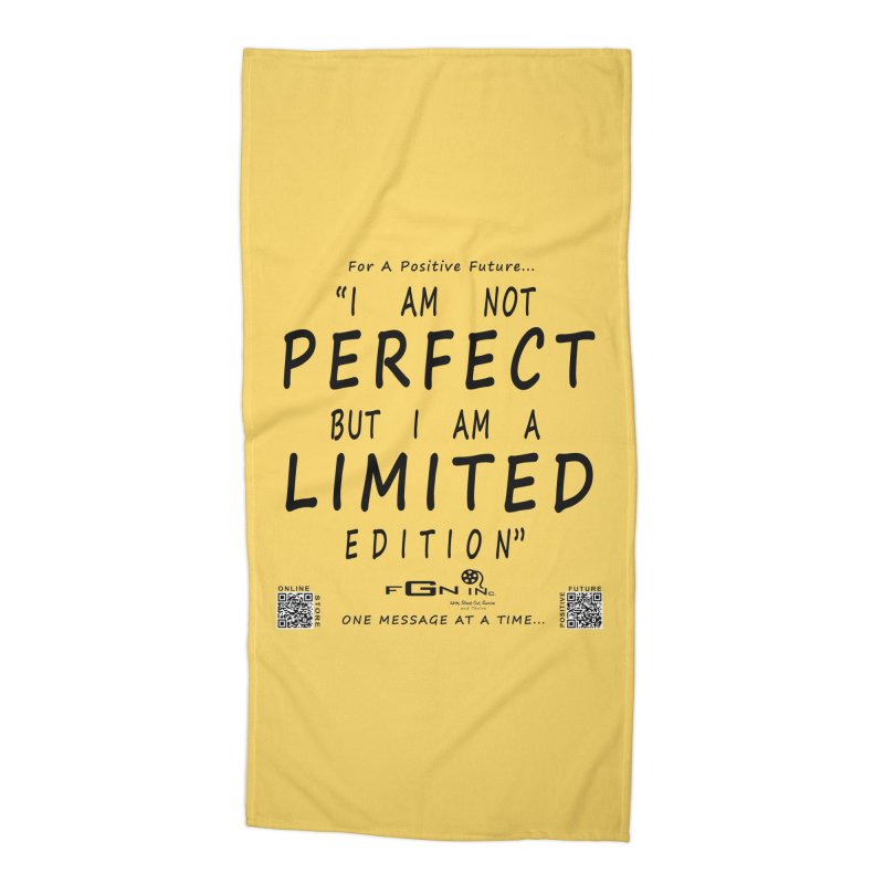 696 - I Am a Limited Edition Accessories Beach Towel by FGN Inc. Online Shop