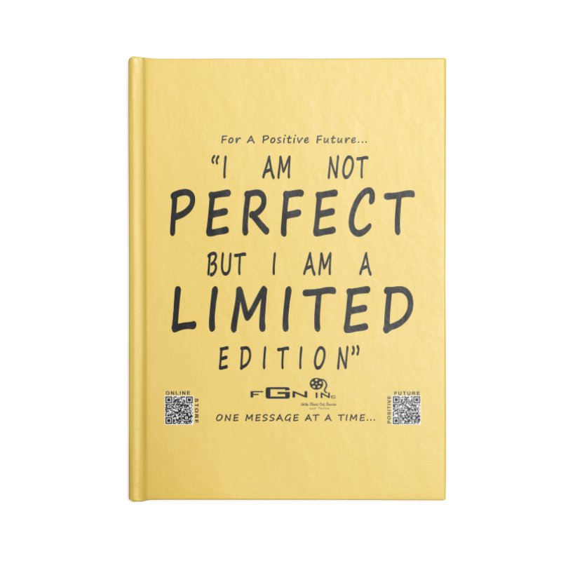 696 - I Am a Limited Edition Accessories Notebook by FGN Inc. Online Shop