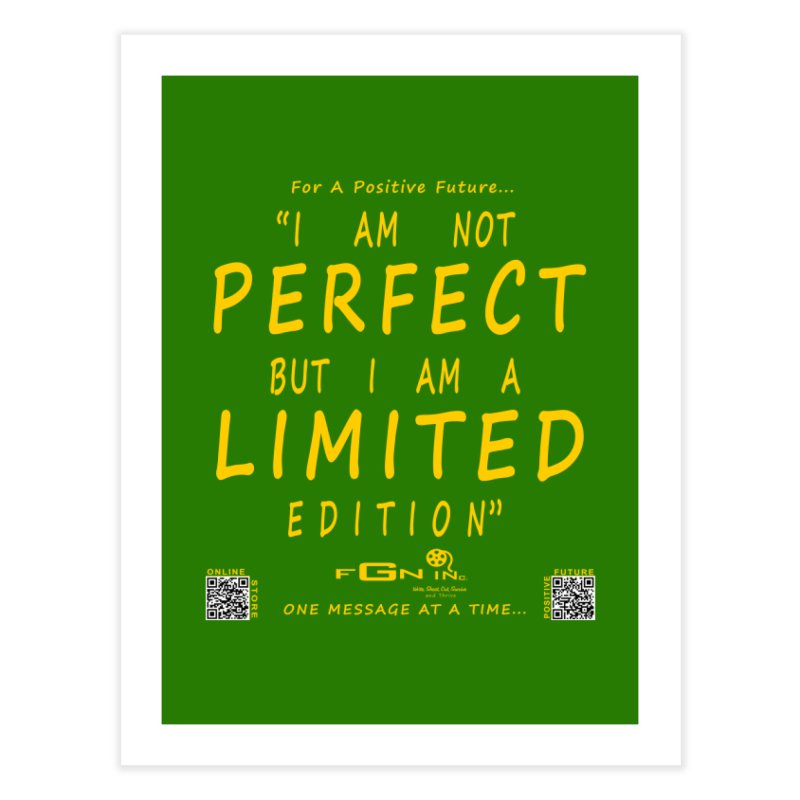 696B - I Am a Limited Edition Home Fine Art Print by FGN Inc. Online Shop