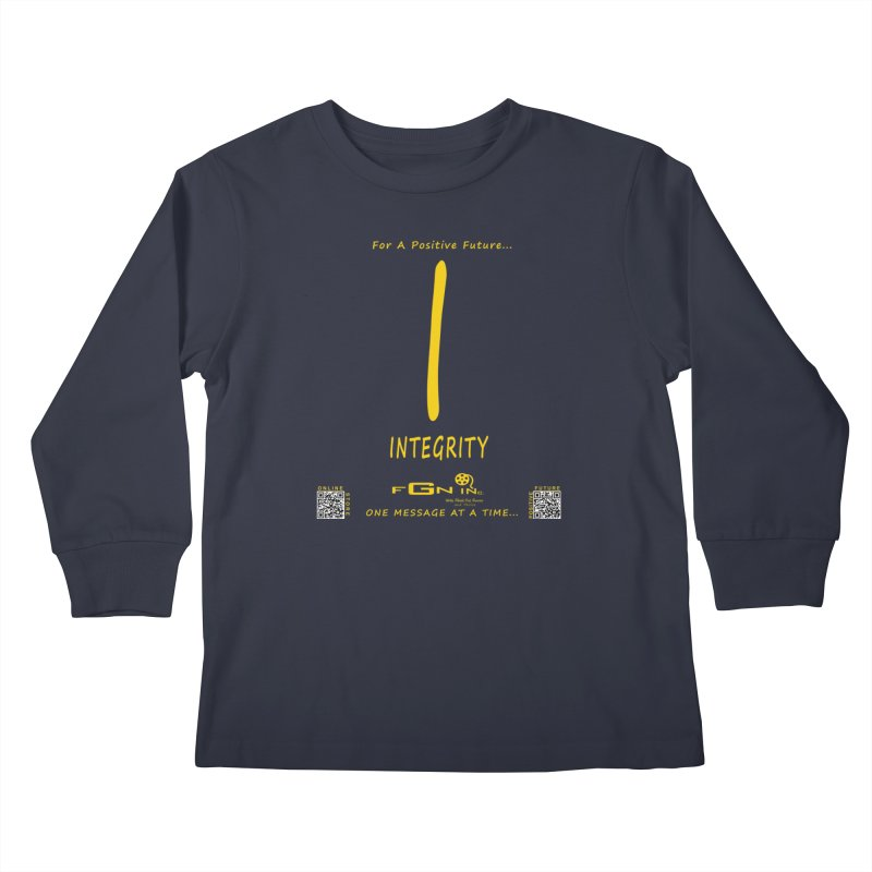 652B - I For Integrity Kids Longsleeve T-Shirt by FGN Inc. Online Shop