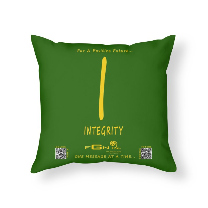 652B - I For Integrity Home Throw Pillow by FGN Inc. Online Shop