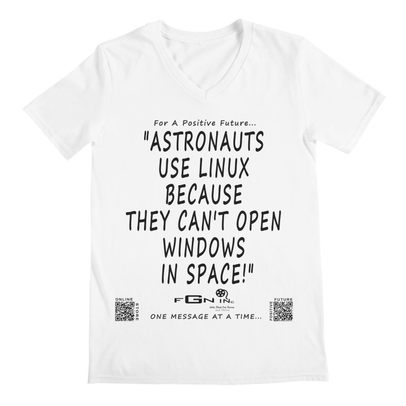 708 - Astronauts In Space Men's V-Neck by FGN Inc. Online Shop