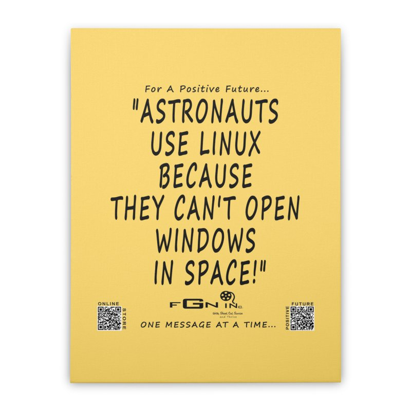 708 - Astronauts In Space Home Stretched Canvas by FGN Inc. Online Shop