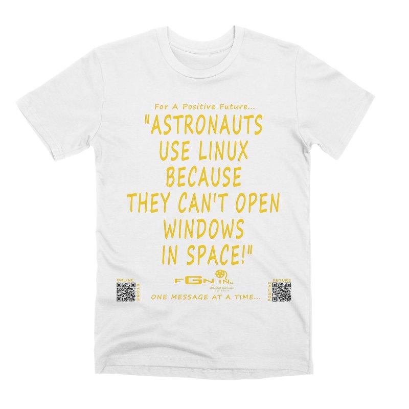 708B - Astronauts In Space Men's T-Shirt by FGN Inc. Online Shop