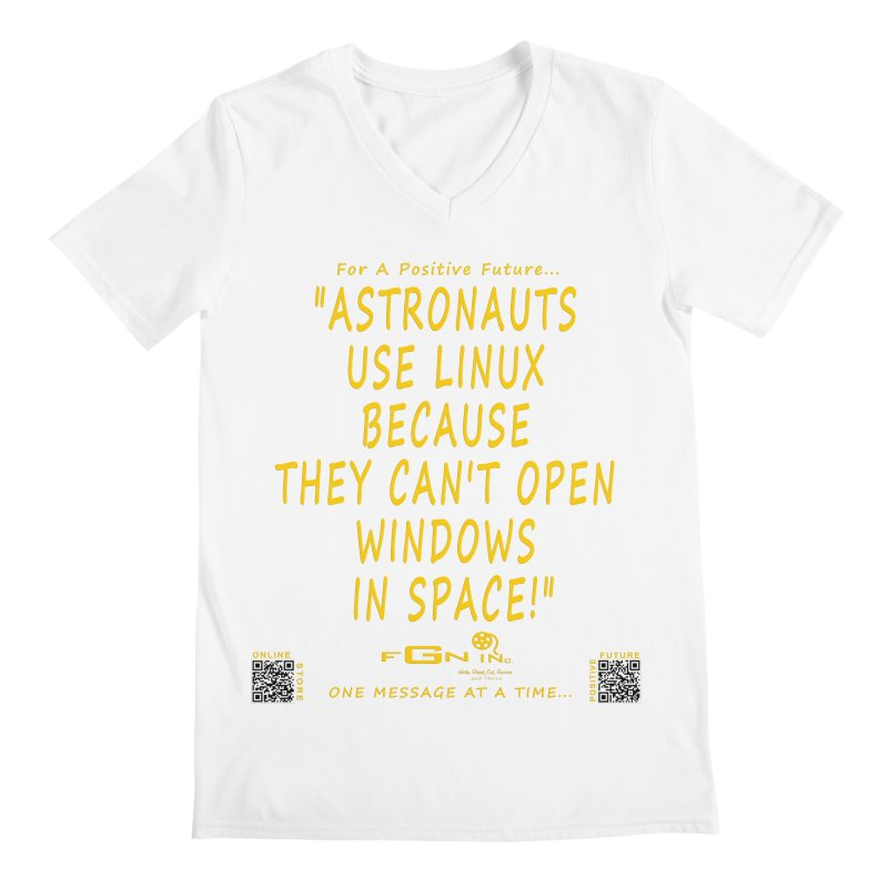 708B - Astronauts In Space Men's V-Neck by FGN Inc. Online Shop