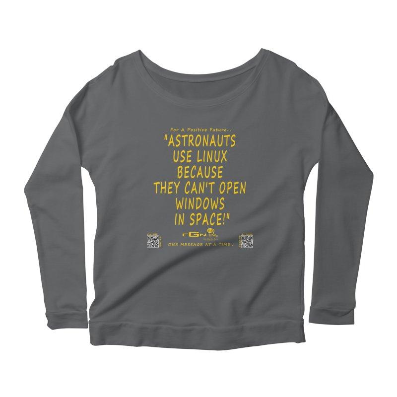 708B - Astronauts In Space Women's Longsleeve T-Shirt by FGN Inc. Online Shop