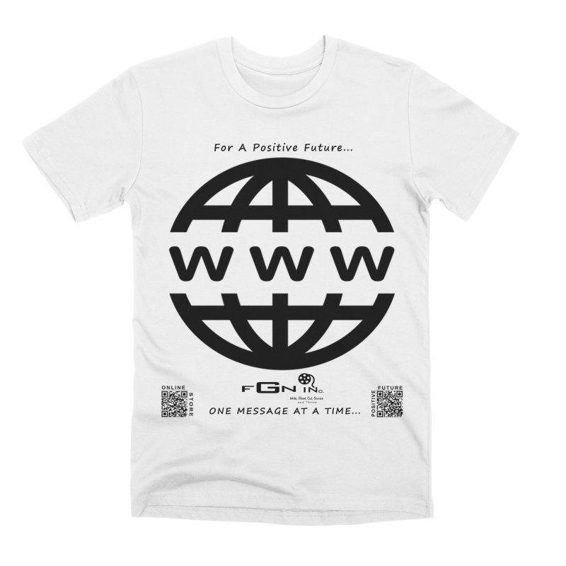 709 - World Wide Web Men's T-Shirt by FGN Inc. Online Shop