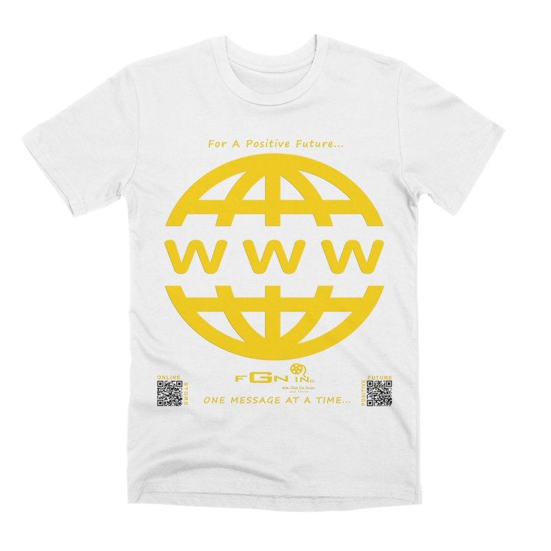 709B - World Wide Web Men's T-Shirt by FGN Inc. Online Shop