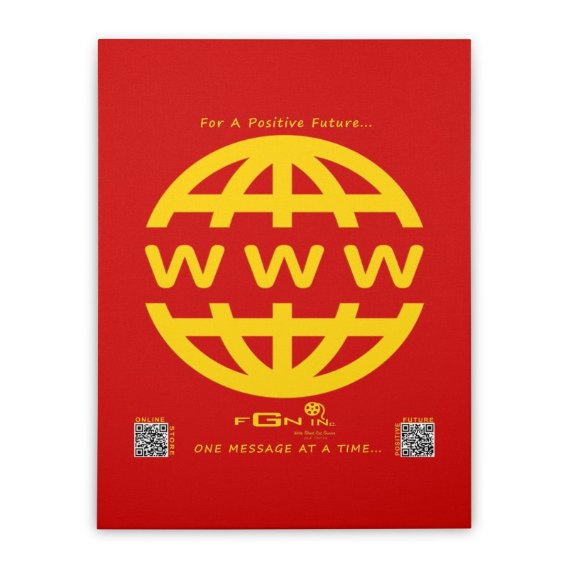 709B - World Wide Web Home Stretched Canvas by FGN Inc. Online Shop