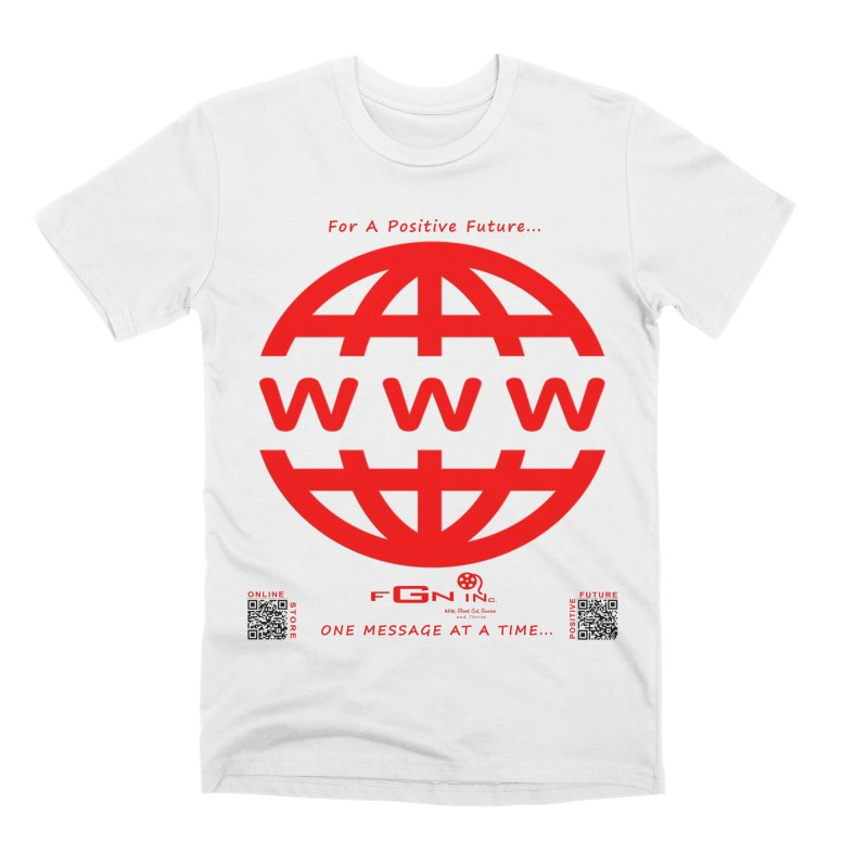 709C - World Wide Web Men's T-Shirt by FGN Inc. Online Shop