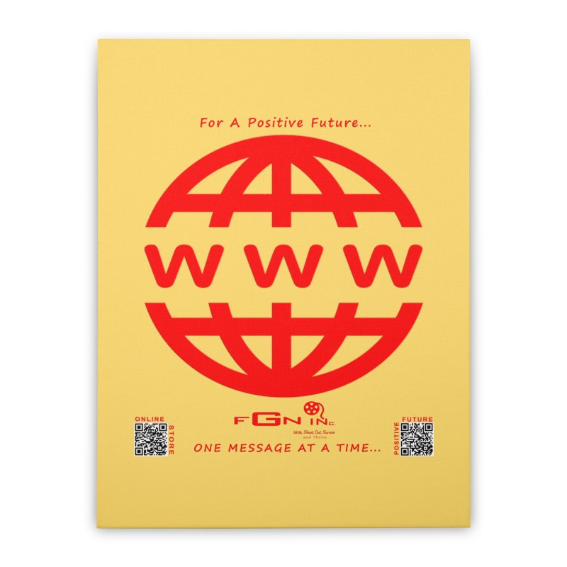709C - World Wide Web Home Stretched Canvas by FGN Inc. Online Shop