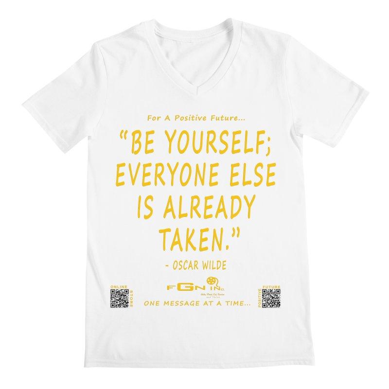 710B - Be Yourself Men's V-Neck by FGN Inc. Online Shop