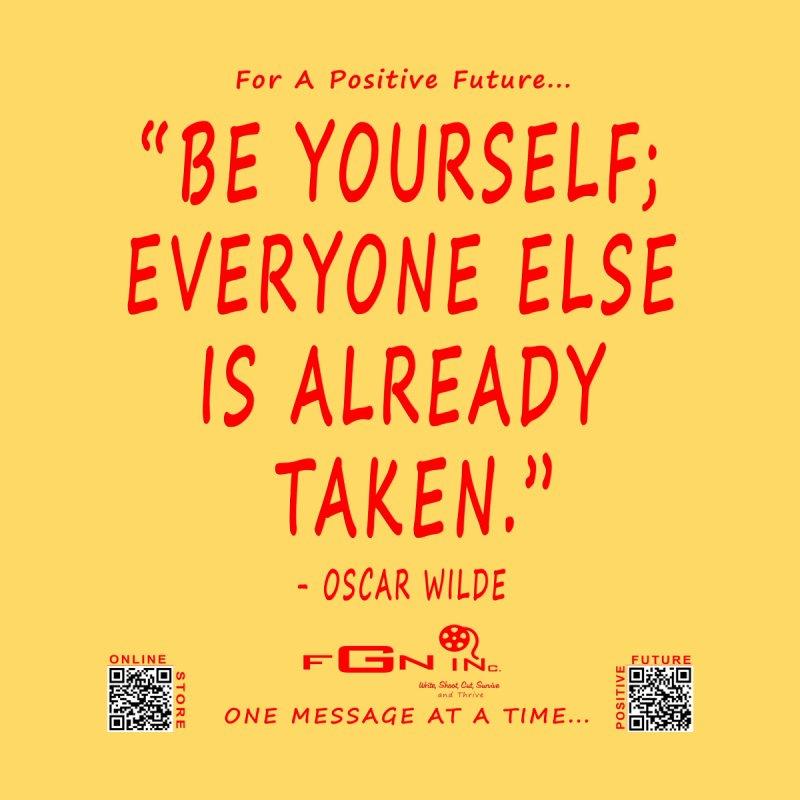 710C - Be Yourself Men's T-Shirt by FGN Inc. Online Shop
