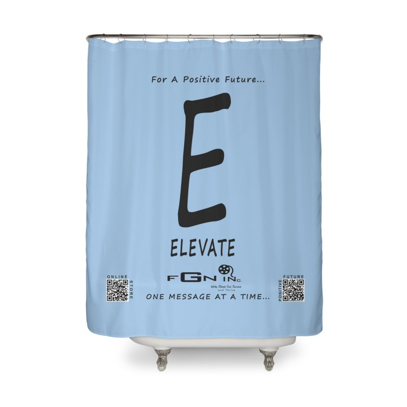 670 - E For Elevate Home Shower Curtain by FGN Inc. Online Shop