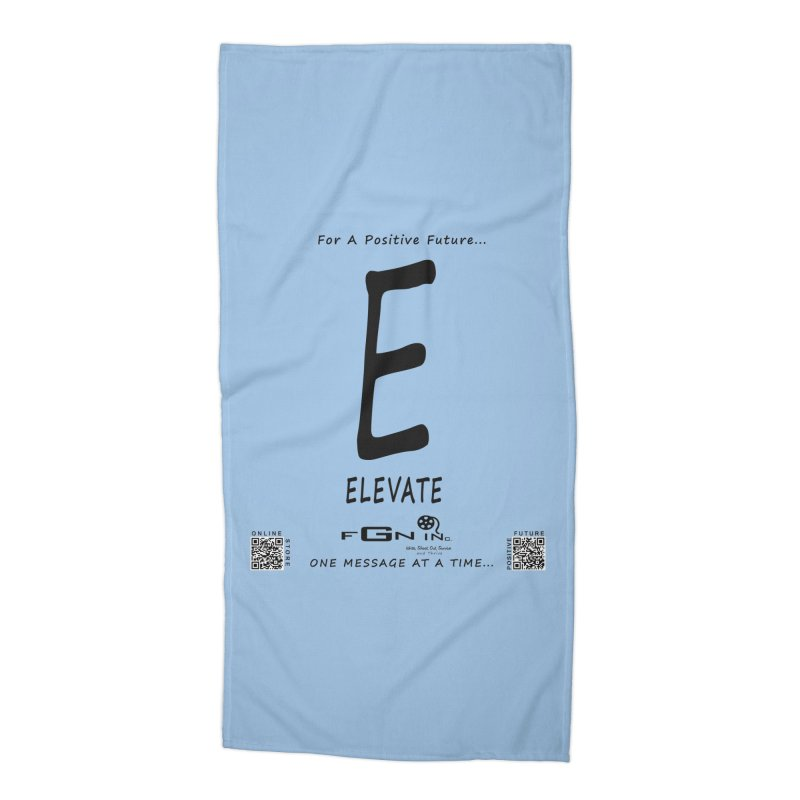 670 - E For Elevate Accessories Beach Towel by FGN Inc. Online Shop