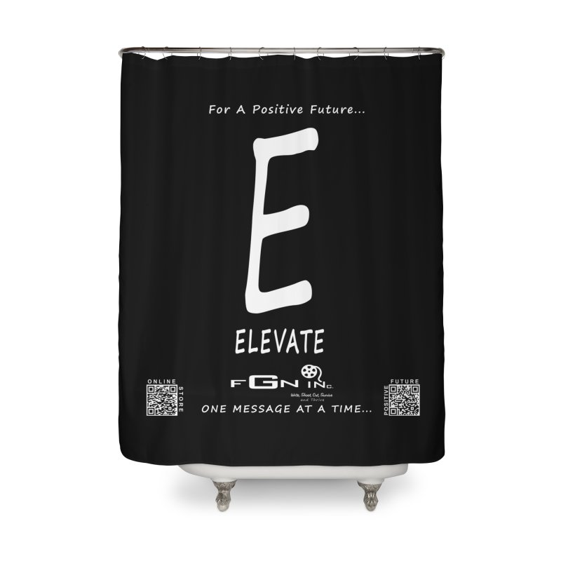 670A - E For Elevate Home Shower Curtain by FGN Inc. Online Shop