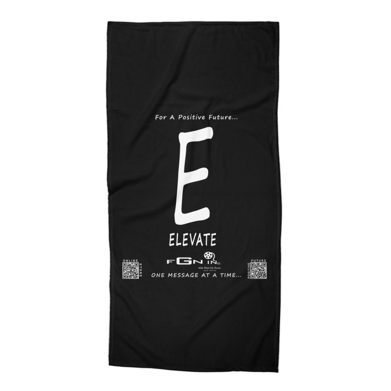 670A - E For Elevate Accessories Beach Towel by FGN Inc. Online Shop