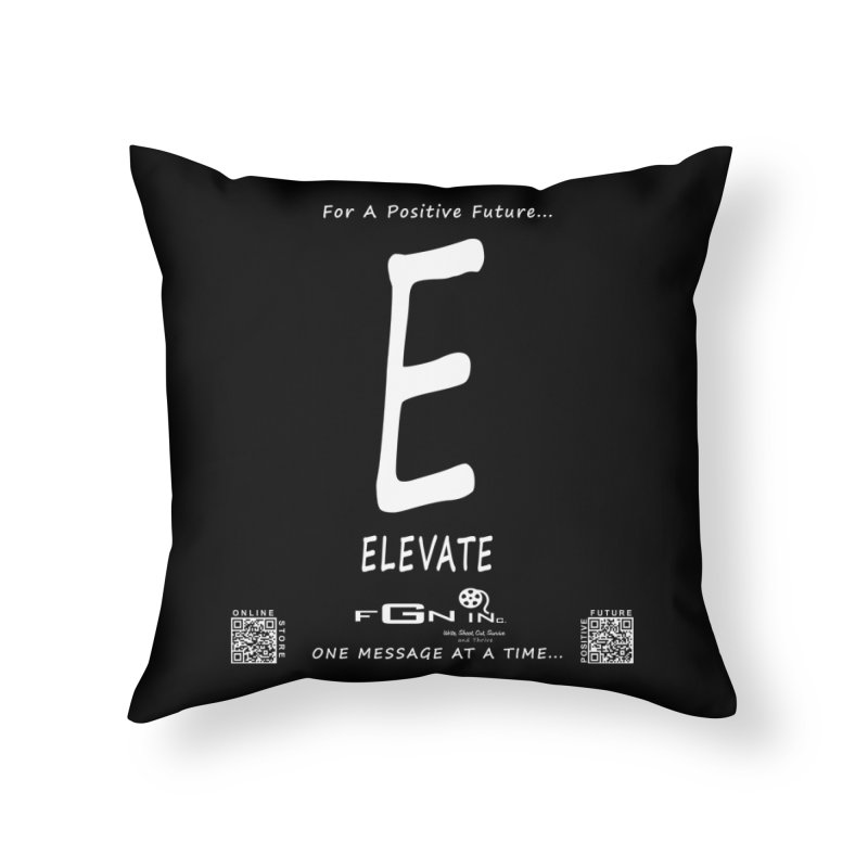 670A - E For Elevate Home Throw Pillow by FGN Inc. Online Shop