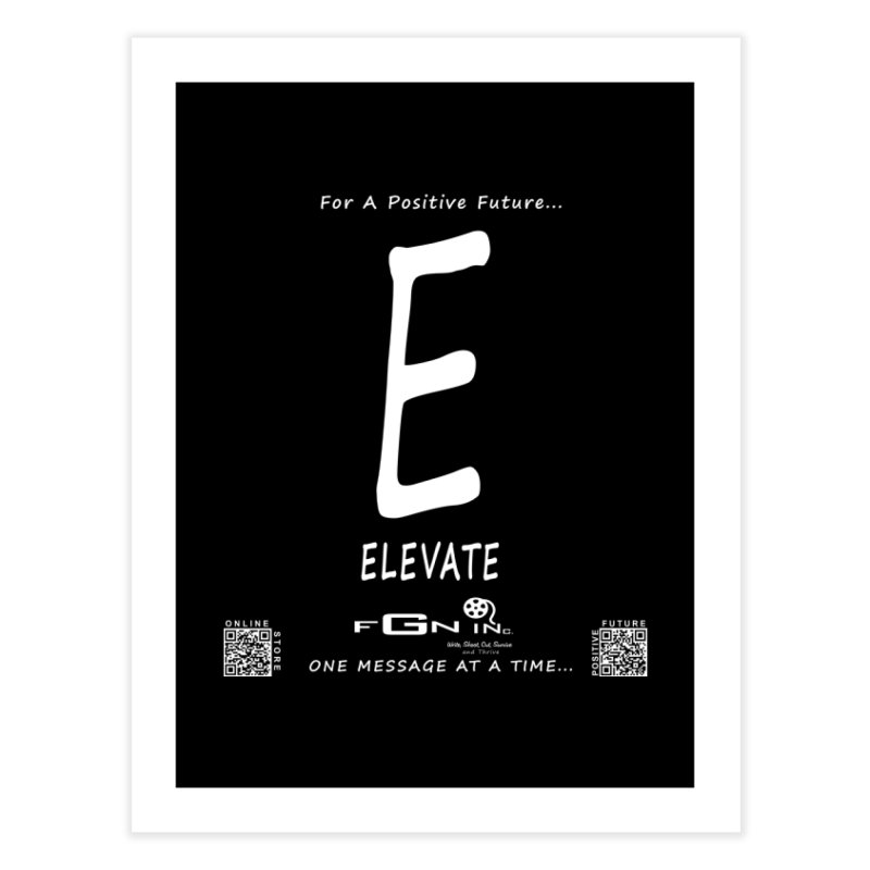 670A - E For Elevate Home Fine Art Print by FGN Inc. Online Shop
