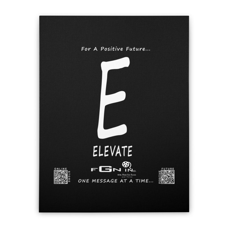 670A - E For Elevate Home Stretched Canvas by FGN Inc. Online Shop