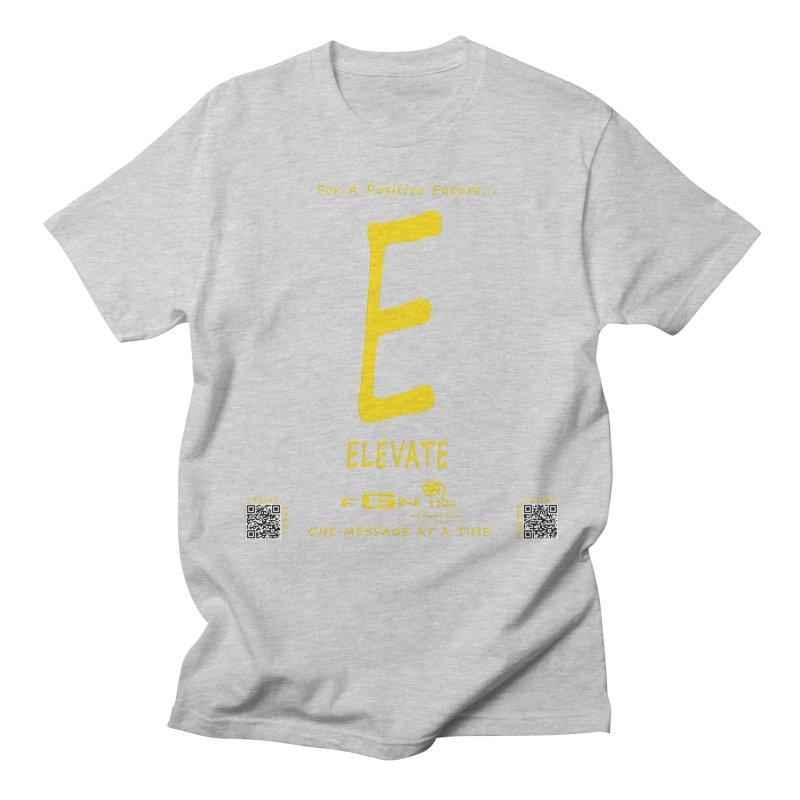670B - E For Elevate Men's T-shirt by FGN Inc. Online Shop