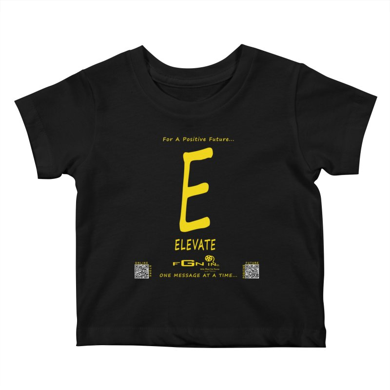 670B - E For Elevate Kids Baby T-Shirt by FGN Inc. Online Shop