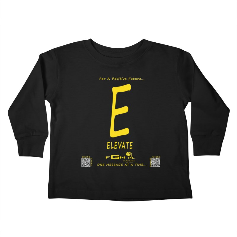 670B - E For Elevate Kids Toddler Longsleeve T-Shirt by FGN Inc. Online Shop