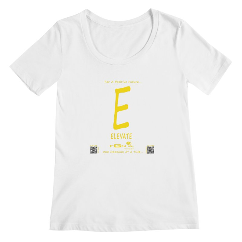 670B - E For Elevate Women's Scoopneck by FGN Inc. Online Shop