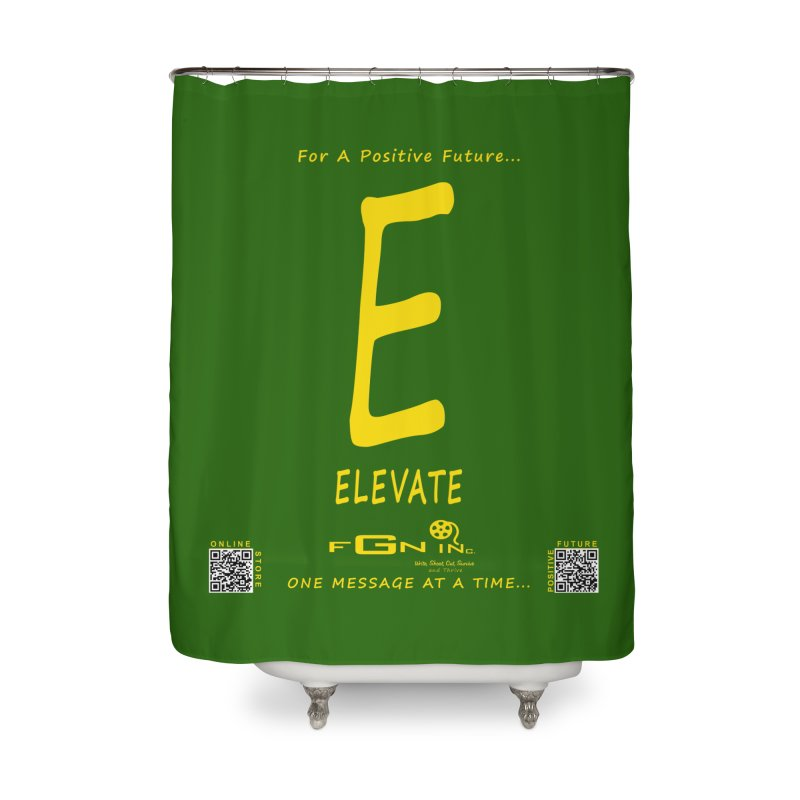 670B - E For Elevate Home Shower Curtain by FGN Inc. Online Shop