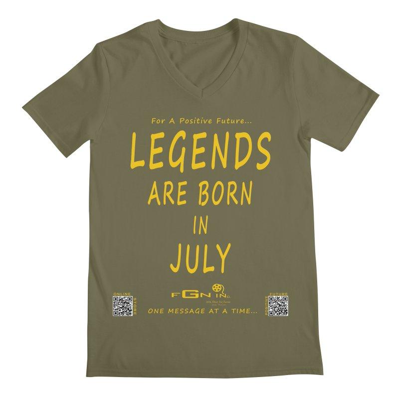 671B - Legends Are Born In July Men's V-Neck by FGN Inc. Online Shop