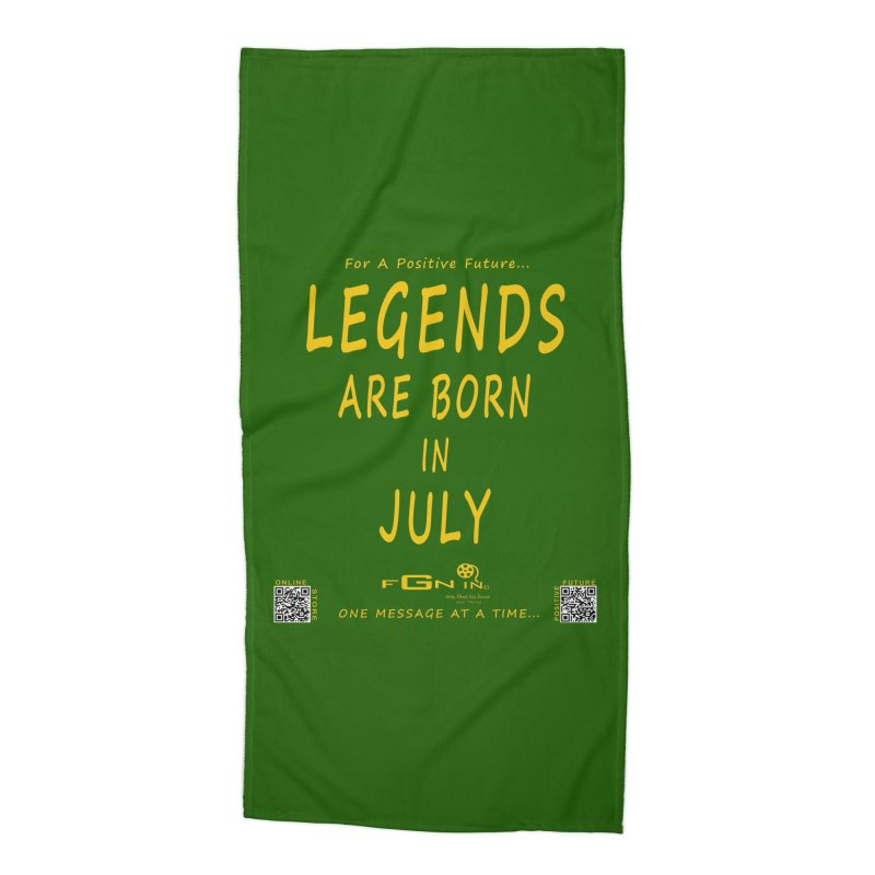 671B - Legends Are Born In July Accessories Beach Towel by FGN Inc. Online Shop