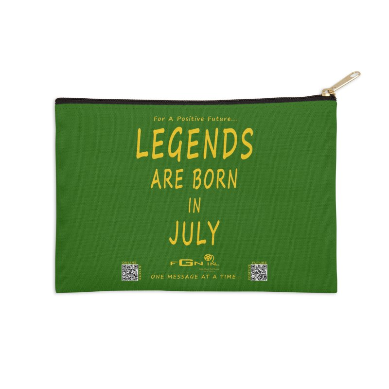 671B - Legends Are Born In July Accessories Zip Pouch by FGN Inc. Online Shop
