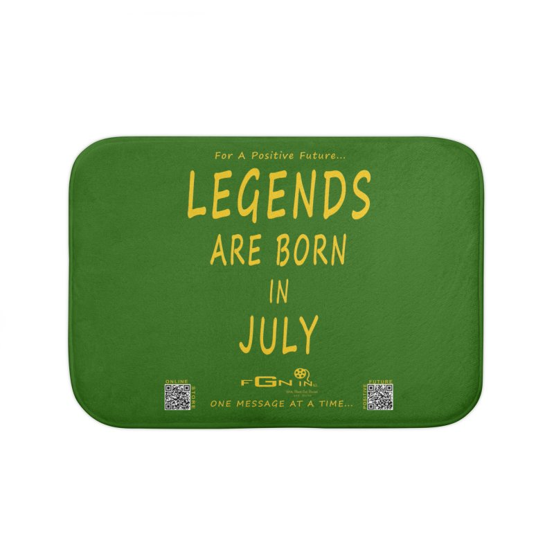 671B - Legends Are Born In July Home Bath Mat by FGN Inc. Online Shop